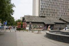Asia China, Beijing, nanxincang cultural leisure Street,Modern tall buildings and ancient barn. Asia China, Beijing, nanxincang cultural leisure Street, modern stock photo