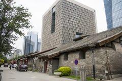 Asia China, Beijing, nanxincang cultural leisure Street,Modern tall buildings and ancient barn Stock Photos
