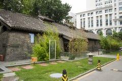Asia China, Beijing, nanxincang cultural leisure Street,Modern tall buildings and ancient barn Royalty Free Stock Photography