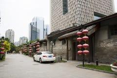 Asia China, Beijing, nanxincang cultural leisure Street,Modern tall buildings and ancient barn Royalty Free Stock Images