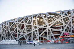 Asia China, Beijing, Nationa lStadium , architectural appearance Stock Photos