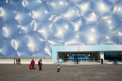 Asia China, Beijing, the National Aquatics Center, the building appearance Stock Photography