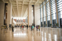 Asia China, Beijing, National Museum, interior structure Royalty Free Stock Images