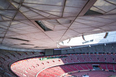 Asia China, Beijing, National Stadium, internal structure, the audience stand Royalty Free Stock Images