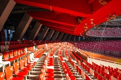 Asia China, Beijing, National Stadium, internal structure, the audience stand Stock Photos