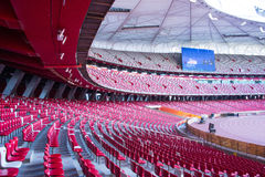 Asia China, Beijing, National Stadium, internal structure, the audience stand Royalty Free Stock Photography