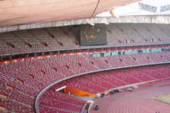 Asia China, Beijing, National Stadium, internal structure, the audience stand Stock Photography
