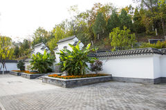 Asia China, Beijing, the north house, Forest Park,Garden architecture, white walls, gray tiles. Asia China, Beijing, North Palace, national Forest Park, Garden Stock Photo