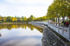 Asia China, Beijing, north palace, the national forest park, Lake, stone railings Stock Photography
