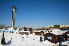 Asia China, Beijing, Olympic Park, Asia China, Beijing, Olympic Park, winter landscape Stock Photos