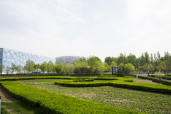 Asia China, Beijing, Olympic Park, garden landscape architecture Stock Image