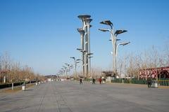 Asia China, Beijing, Olympic Park, landscape Avenue Stock Images