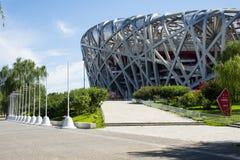 Asia China, Beijing, Olympic Park, modern architecture, National Stadium Stock Image