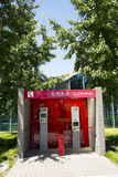 Asia, China, Beijing, Olympic Park, public telephone office Royalty Free Stock Photos
