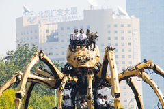 In Asia, China, Beijing, Olympic Park, the spider, the French mechanical parade Royalty Free Stock Photo