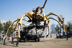 In Asia, China, Beijing, Olympic Park, the spider, the French mechanical parade Royalty Free Stock Photos