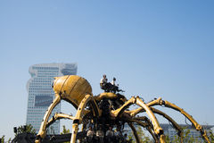 In Asia, China, Beijing, Olympic Park, the spider, the French mechanical parade Stock Photo