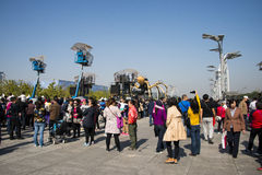 In Asia, China, Beijing, Olympic Park, the spider, the French mechanical parade Royalty Free Stock Images