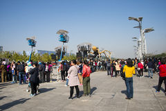 In Asia, China, Beijing, Olympic Park, the spider, the French mechanical parade Stock Images