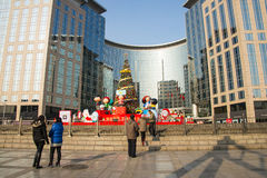 Asia China, Beijing, Oriental plaza, Christmas decorations Royalty Free Stock Images