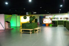 Asia China, Beijing, planning exhibition hall, indoor exhibition hall, Stock Photography