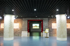 Asia China, Beijing, planning exhibition hall, indoor exhibition hall, Stock Image