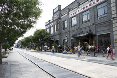 Asia, China, Beijing, Qianmen Street, commercial street, walk street Royalty Free Stock Photos