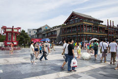 Asia, China, Beijing, Qianmen Street, commercial street, walk street Royalty Free Stock Photo