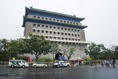 Asia China, Beijing, Qianmen, Zhengyang gate watchtower Royalty Free Stock Photo
