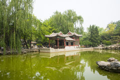 Asia China, Beijing, Ritan Park, Scenic garden, restaurant Royalty Free Stock Photography