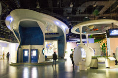Asia China, Beijing, science and technology museum, indoor exhibition hall, Stock Image