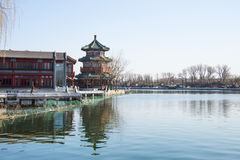 Asia China, Beijing, Shichahai, early spring scenery Royalty Free Stock Photo