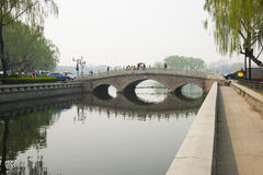 Asia China, Beijing, Shichahai, jin ding bridge Stock Image