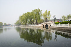 Asia China, Beijing, Shichahai, jin ding bridge Stock Photography
