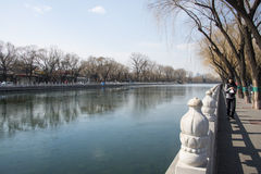 Asia China, Beijing, Shichahai scenic area,Early spring scenery Royalty Free Stock Photography