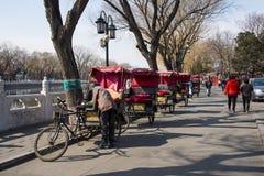 Asia China, Beijing, Shichahai scenic area,the rickshaw Royalty Free Stock Photos
