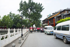 Asia China, Beijing, Shichahai Scenic, Shore landscape Royalty Free Stock Images