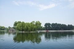 Asia China, Beijing, Shichahai Scenic, summer, Lakeview Stock Photo