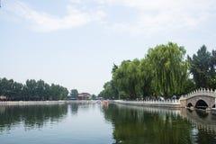 Asia China, Beijing, Shichahai Scenic, summer, Lakeview Royalty Free Stock Photo