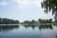 Asia China, Beijing, Shichahai Scenic, summer, Lakeview Royalty Free Stock Image