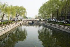 Asia China, Beijing, Shichahai, Wanning Bridge Royalty Free Stock Photo