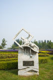 Asia China, beijing, Shunyi flower port, sculpture, made, paper Stock Image