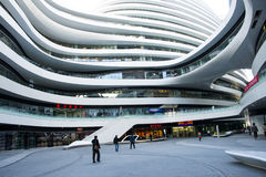 In Asia, China, Beijing, SOHO, the Milky Way, modern architecture royalty free stock image