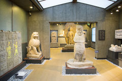 Asia China, Beijing, stone carving art museum, Indoor area Royalty Free Stock Images