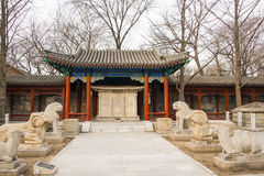 Asia China, Beijing, stone carving art museum,Outdoor exhibition area Royalty Free Stock Photos
