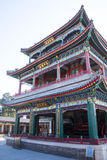 Asia China, Beijing, the Summer Palace, classical architecture, Heart and garden theater building. China and Asia, Beijing, the summer palace, the Royal Garden Royalty Free Stock Photography