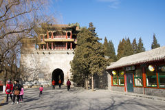 Asia China, Beijing, the Summer Palace,Classical architecture, Wenchang Pavilion Stock Photos