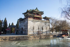 Asia China, Beijing, the Summer Palace,Classical architecture, Wenchang Pavilion Royalty Free Stock Photos