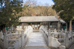 Asia China, Beijing, the Summer Palace,Landscape architecture, Courtyard, stone bridge, Stock Images