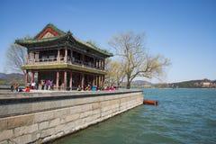 Asia China, Beijing, the Summer Palace, royal garden, spring scenery, Jingming building Royalty Free Stock Photos